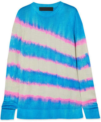 The Elder Statesman Raya Tie-dyed Silk Sweater - Blue