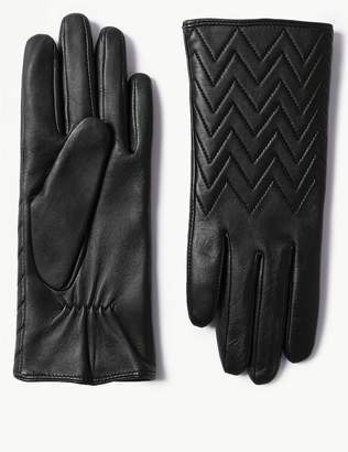 Marks and Spencer Leather Quilted Cuff Gloves