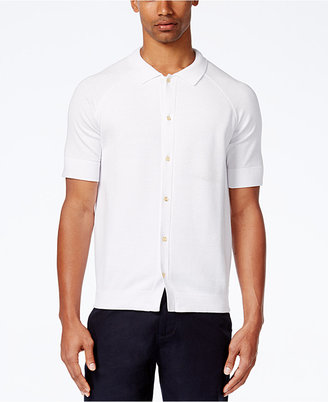 Sean John Men's Short-Sleeve Button-Front Sweater $74.50 thestylecure.com