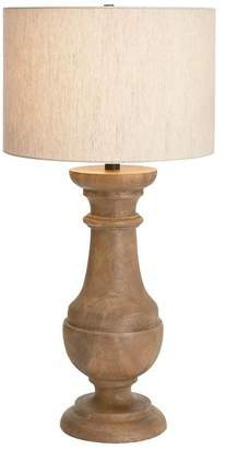 Pottery Barn Finn Turned Wood Table Lamp