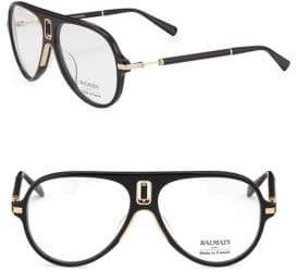 Balmain 61MM Acetate Aviator Optical Glasses