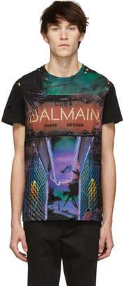 Balmain Black Neon Cuba T-Shirt
