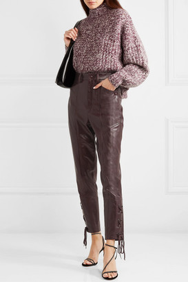 Isabel Marant Cadix Leather Straight-leg Pants - Burgundy