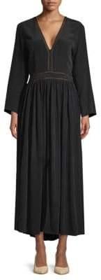 L'Agence Rosalia Silk Maxi Dress