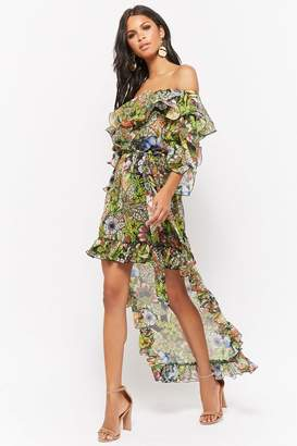 Forever 21 Ruffled Off-the-Shoulder High-Low Dress