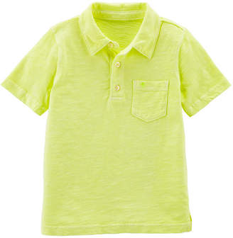 Carter's Short Sleeve Knit Polo Shirt - Baby Boys