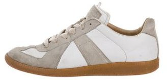 Maison Martin Margiela Leather Low-Top Sneakers $125 thestylecure.com