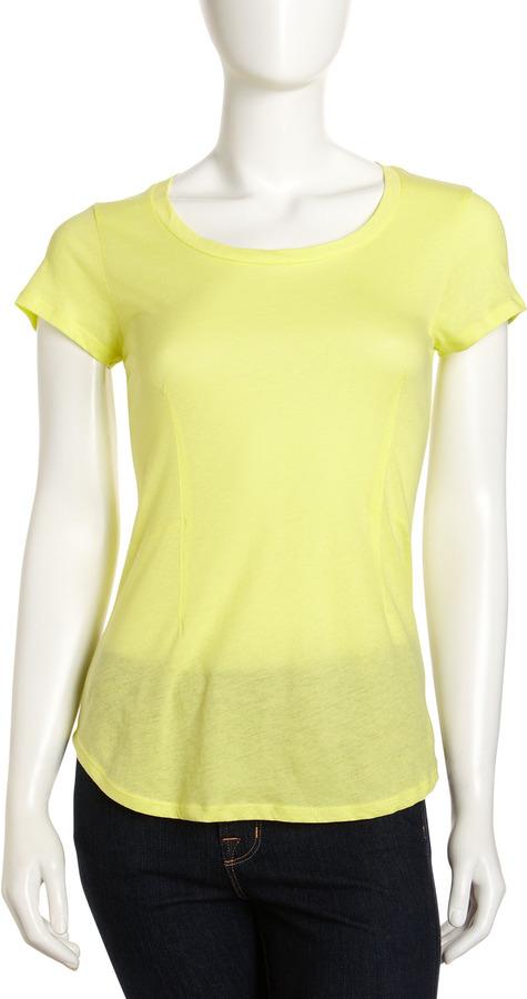 Velvet by Graham & Spencer Roe Short-Sleeve Top, Yellow
