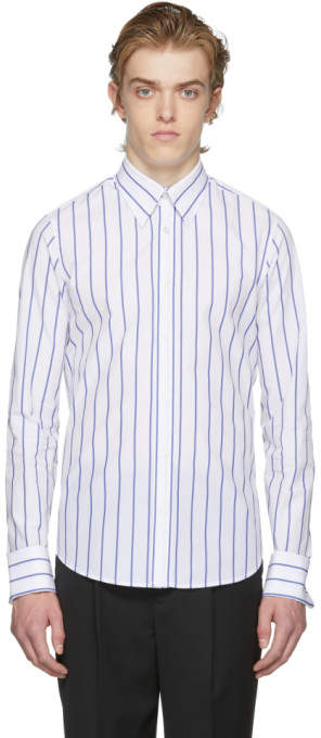 White Stripe Oversized 60s Shirt