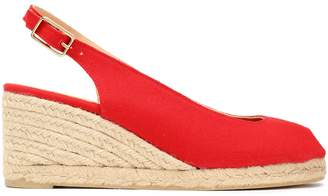 Castaner Beli Cotton-canvas Wedge Slingback Espadrilles