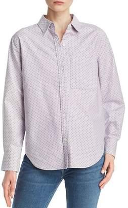 Current/Elliott The Neal Pindot Button-Down Shirt