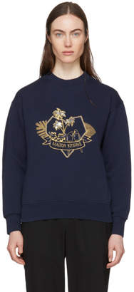 MAISON KITSUNÉ Navy Love Blazon Sweatshirt
