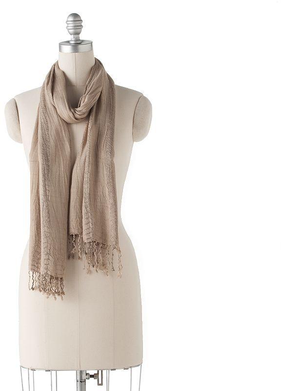 Apt. 9® lurex® crinkle scarf