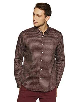Casual Terrains Men's Tailored Slim-Fit Hipster-Style Printed Vintage Dress Shirt