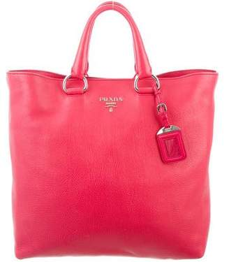 Pre-Owned at TheRealReal · Prada Vitello Daino Shopping Tote 8dce5bc65e