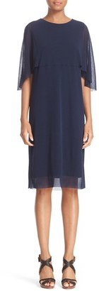 Women's Fuzzi Tulle Capelet Dress $385 thestylecure.com