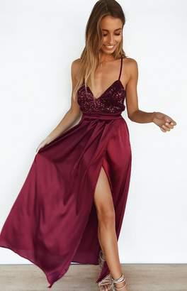 Beginning Boutique Patrice Formal Dress Merlot