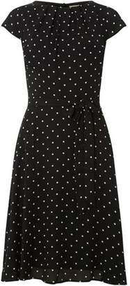Dorothy Perkins Womens **Billie & Blossom Tall Ivory Spot Crepe Dress