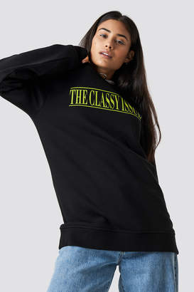 The Classy Issue X Na Kd The Classy Excite Unisex Sweater Black