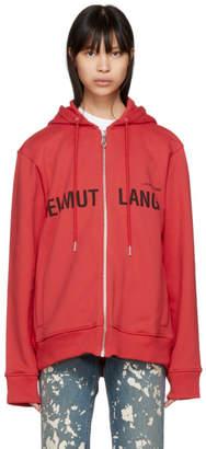 Helmut Lang Red Campaign Zip Hoodie