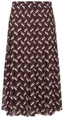 MICHAEL Michael Kors Chevron Pleated Skirt