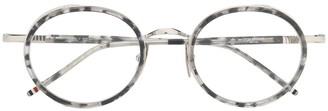 Thom Browne Eyewear tortoise border sunglasses