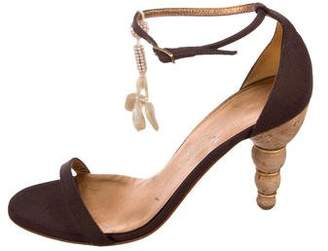 Salvatore Ferragamo Embellished Ankle-Strap Sandals
