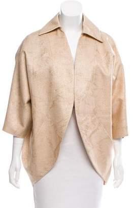Nina Ricci Linen Metallic Coat