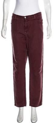 Current/Elliott Linen-Blend High-Rise Jeans