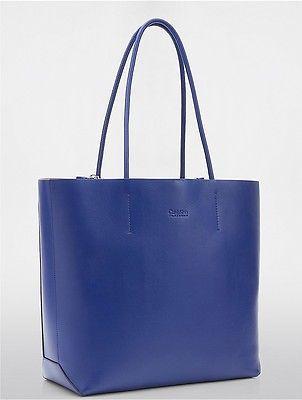 Calvin KleinCalvin Klein Womens Platinum Framed Envelope Tote Electric Blue
