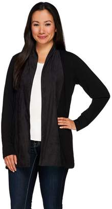 Kelly By Clinton Kelly Kelly by Clinton Kelly Cardigan with Faux Suede Shawl Collar