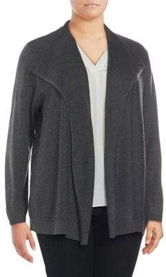 Calvin Klein Plus Open Collar Cardigan