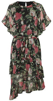 Vero Moda Asymmetrical Floral Calf-Length Dress
