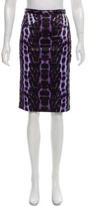Just Cavalli Printed Satin Skirt