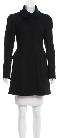pradaPrada Virgin Wool Standing Collar Coat