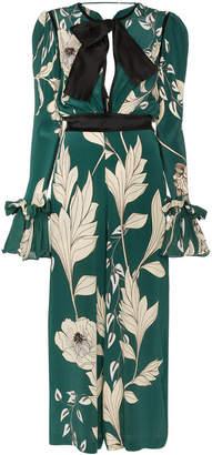 Johanna Ortiz Silk Floral Jumpsuit
