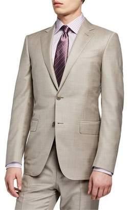Ermenegildo Zegna Men's Heathered Two-Piece Suit, Beige
