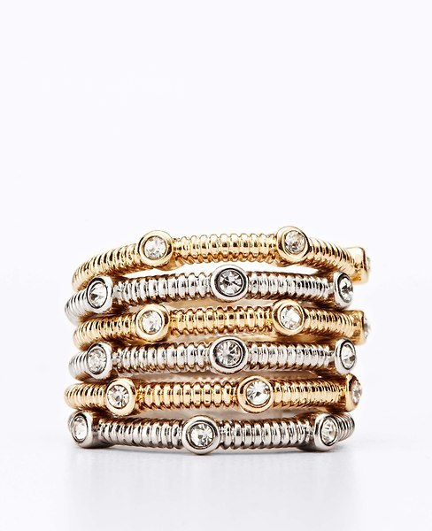 Ann Taylor Textured Stacked Rings