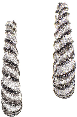 Diamond Select Cuts 18K 7.83 Ct. Tw. Diamond Hoop Earrings