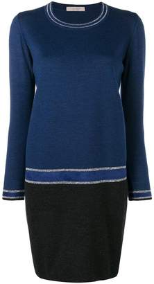 D-Exterior D.Exterior colour block sweater dress