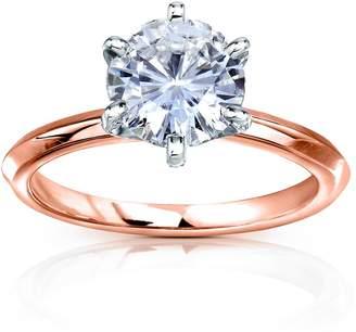 Victoria's Secret Kobelli Classic Solitaire Round Brilliant Moissanite Engagement Ring 2 Carats 14k Rose Gold , 11