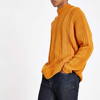 River Island Orange turtle neck oversized sweater