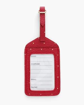 Red Dot Luggage Tag