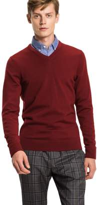Tommy Hilfiger Collection Luxury Wool V-Neck Sweater