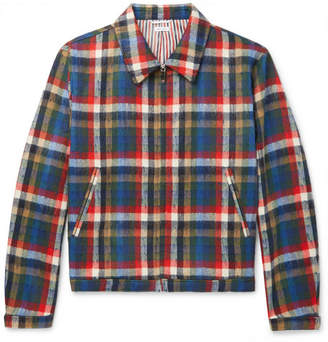 Thom Browne Checked Wool-Blend Blouson Jacket