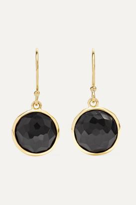 Ippolita Lollipop 18-karat Gold Onyx Earrings