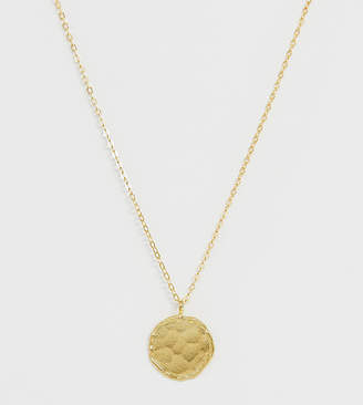 Ottoman Hands Exclusive gold plated coin necklace on satellite chain