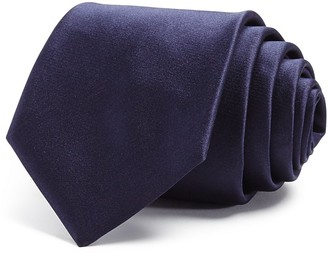 Yves Saint Laurent Satin Solid Skinny Tie $150 thestylecure.com