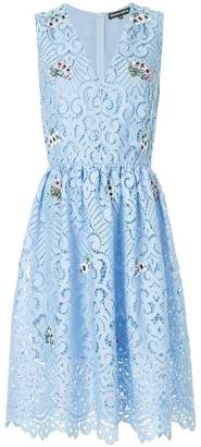 Markus Lupfer floral embroidered lace dress