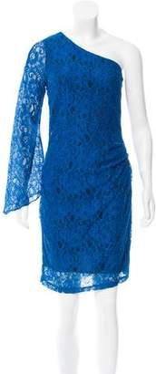 Andrew Marc One Shoulder Lace Dress
